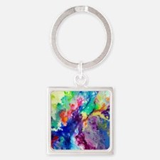 Touch Me Here Square Keychain