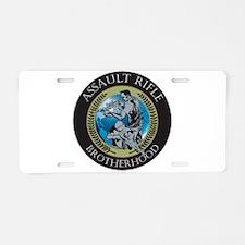 Assault Rifle Brotherhood Aluminum License Plate