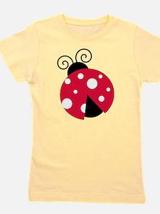 Large Ladybug Girl's Tee