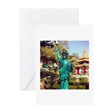 Lady Liberty Greeting Cards