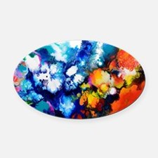 Cute Trace Oval Car Magnet
