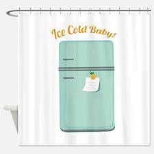 IceBox_IceColdBaby! Shower Curtain