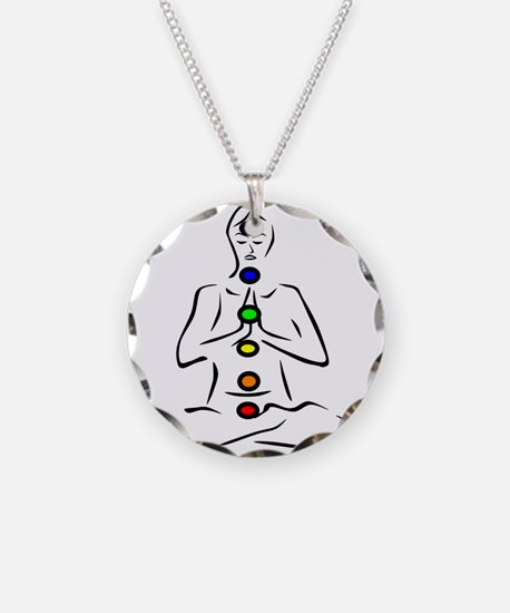 Chakras Align Necklace Circle Charm