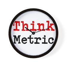 Think Metric Wall Clock
