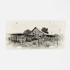 Iowa Barn Aluminum License Plate