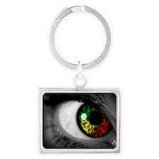 rasta eye Landscape Keychain