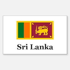 Sri Lankan Heritage Sri Lanka Sticker (Rectangular