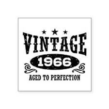 "Vintage 1966 Square Sticker 3"" x 3"""
