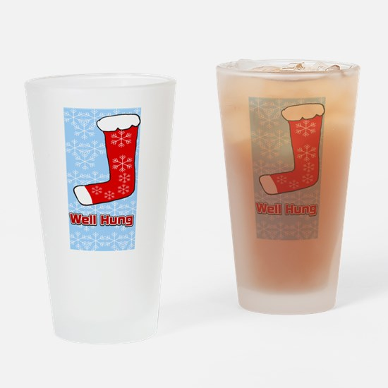 Well Hung Stocking Drinking Glass
