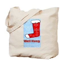 Well Hung Stocking Tote Bag