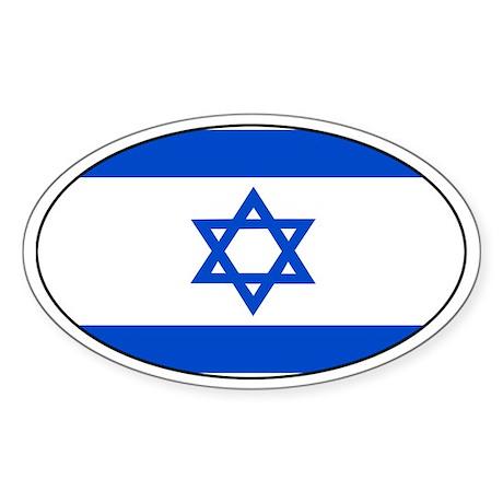 Israel flag Oval Sticker
