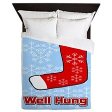Well Hung Stocking Queen Duvet