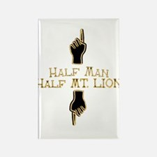 Half man half mt lion Rectangle Magnet
