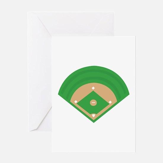 BaseballField_Base Greeting Cards