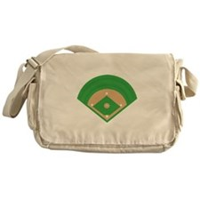 BaseballField_Base Messenger Bag