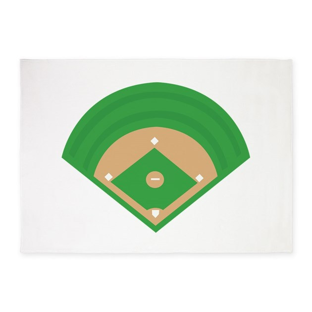 BaseballField_Base 5'x7'Area Rug By Windmill37