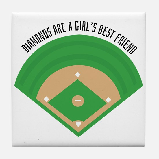 BaseballField_Diamonds Tile Coaster