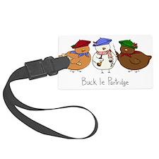 Three French Hens Luggage Tag