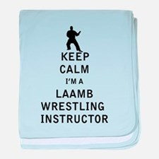 Keep Calm I'm a Laamb Wrestling Instructor baby bl