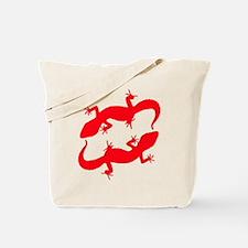 Red Leopard Geckos Tote Bag