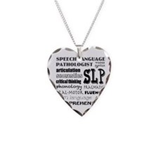 Unique Speech language pathologists Necklace Heart Charm