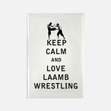 Keep Calm and Love Laamb Wrestling Magnets