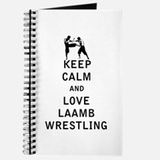 Keep Calm and Love Laamb Wrestling Journal