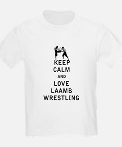Keep Calm and Love Laamb Wrestling T-Shirt