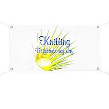 Knitting Brightens Banner