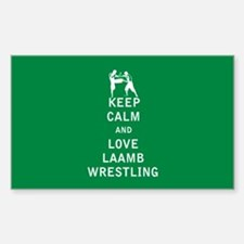 Keep Calm and Love Laamb Wrestling Decal
