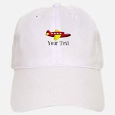 Personalizable Red and Yellow Airplane Baseball Ca