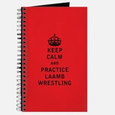 Keep Calm and Practice Laamb Wrestling Journal