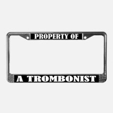 Property Of Trombonist License Plate Frame