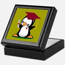 Graduation Penguin Keepsake Box