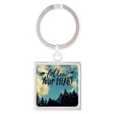 Follow Your Heart Square Keychain