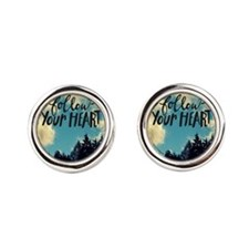 Follow Your Heart Round Cufflinks