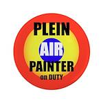 "Plein Air Painter On Duty 3.5"" Button"