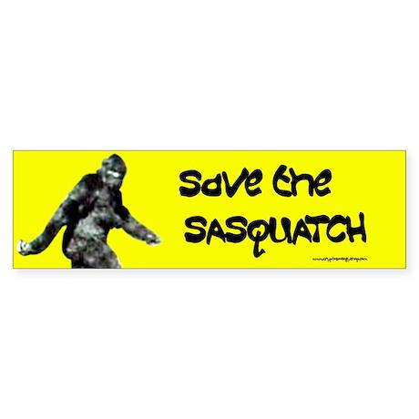 Save the Sasquatch Sticker (Bumper)