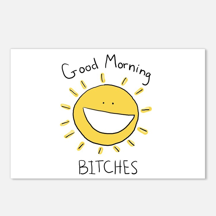 Good Morning Bitches Postcards (Package of 8)