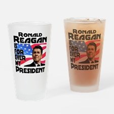 Reagan 4ever Drinking Glass