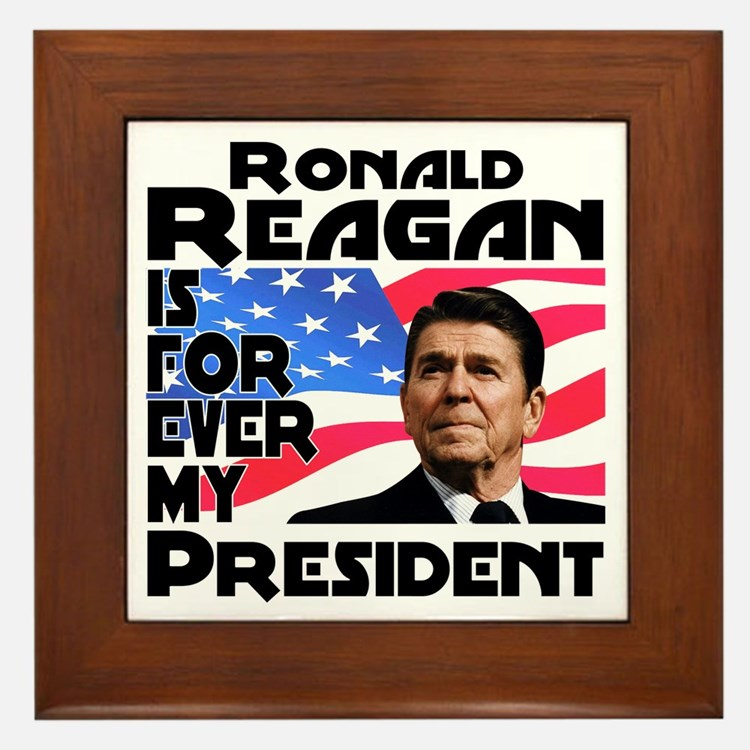 Reagan 4ever Framed Tile
