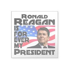"Reagan 4ever Square Sticker 3"" x 3"""