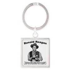 Reagan: Answers Square Keychain