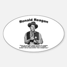 Reagan: Answers Sticker (Oval)