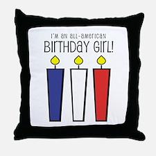 All-American Caroline Throw Pillow