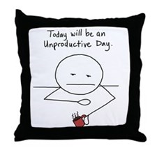 unproductive.png Throw Pillow