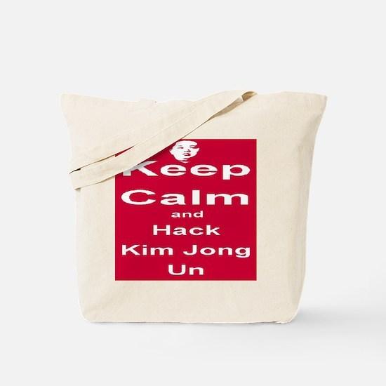 Keep Calm and Hack Kim Jong Un Tote Bag