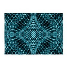 Teal Mind Warp 5'x7'Area Rug