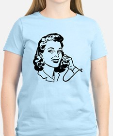 Retro Design Woman On Telephone T-Shirt