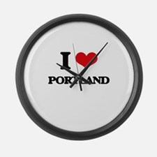 I love Portland Large Wall Clock